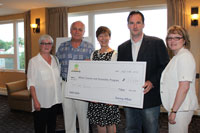 Tourism Education Alliance of the Maritimes Fund Raising Cheque Presentation